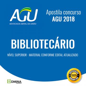 Apostila Advocacia Geral da União AGU 2018 Bibliotecário