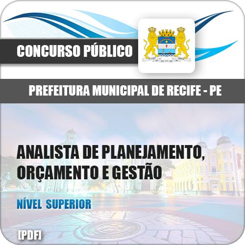 Pref Recife PE 2018 Analista de Planejamento