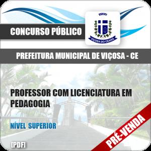 Apostila Pref Viçosa CE 2018 Professor licenciatura em Pedagogia