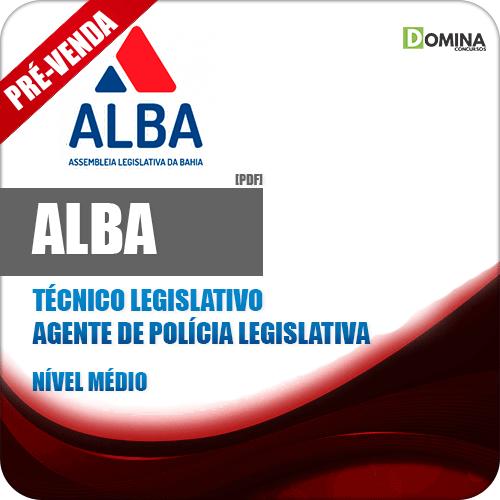 Apostila AL BA 2018 Técnico Legislativo Agente Polícia Legislativa