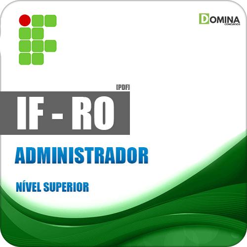Instituto Federal de Rondônia RO 2018 Administrador