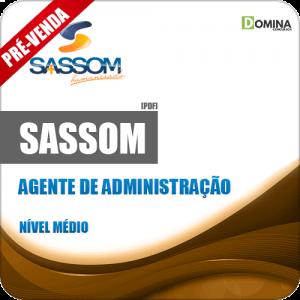 Apostila SASSOM SP 2018 Agente de Administração