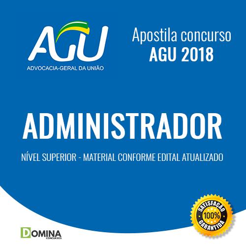 Apostila Advocacia Geral da União AGU 2018 Administrador