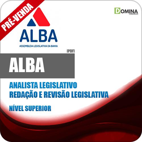Apostila AL BA 2018 Analista Legislativo Redação Revisão Legislativa