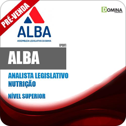 Apostila AL BA 2018 Analista Legislativo Nutrição
