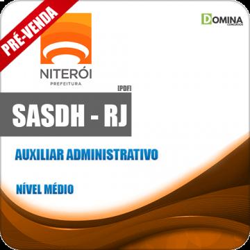 Apostila SASDH RJ 2018 Auxiliar Administrativo