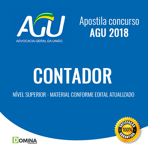 Apostila Advocacia Geral da União AGU 2018 Contador