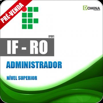 Apostila Instituto Federal de Rondônia RO 2018 Administrador