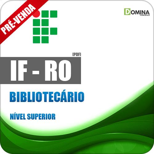 Apostila Instituto Federal de Rondônia RO 2018 Bibliotecário