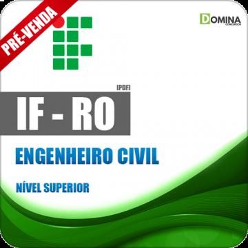 Apostila Instituto Federal de Rondônia RO 2018 Engenheiro Civil