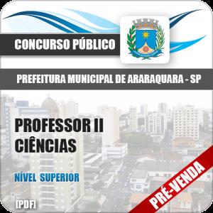 Apostila Pref Araraquara SP 2018 Professor II Ciências