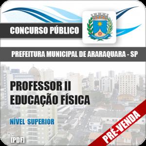 Apostila Pref Araraquara SP 2018 Professor II Educação Física