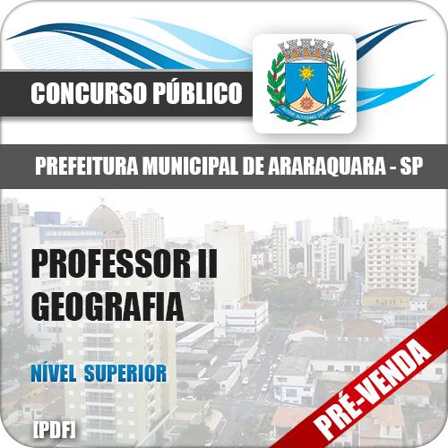 Apostila Pref Araraquara SP 2018 Professor II Geografia