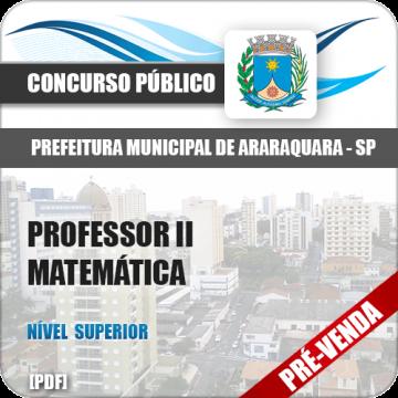 Apostila Pref Araraquara SP 2018 Professor II Matemática