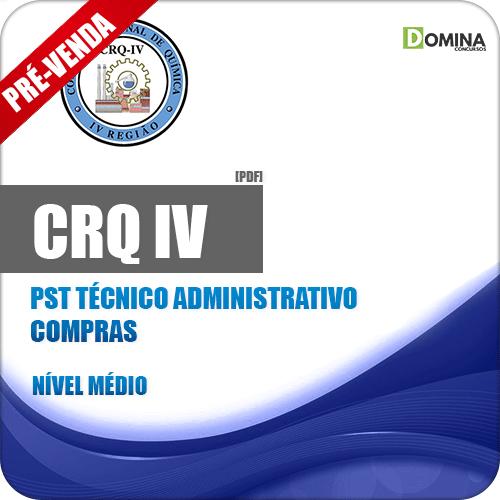 Apostila CRQ IV 2018 PST Técnico Administrativo Compras