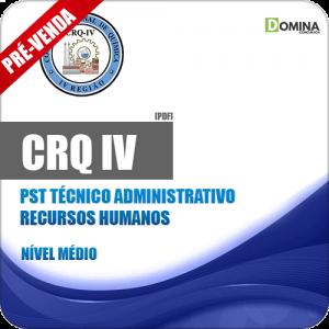 Apostila CRQ IV 2018 PST Técnico Administrativo Recursos Humanos