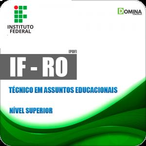 Apostila IF RO 2018 Técnico em Assuntos Educacionais