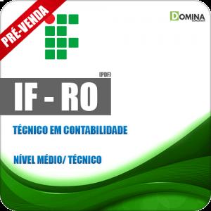 Apostila IF RO 2018 Técnico em Contabilidade