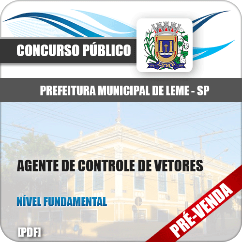 Apostila Pref Franco da Rocha SP 2019 Agente Controle Vetores