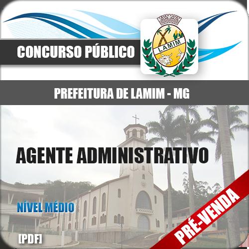Apostila Pref Lamim MG 2019 Agente Administrativo
