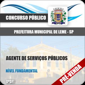 Apostila Pref Leme SP 2019 Agente de Serviços Públicos