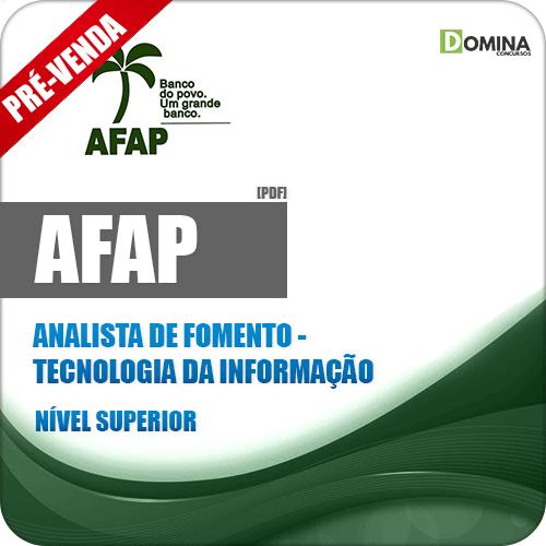 Apostila AFAP 2019 Analista de Fomento Tecnologia da Informação