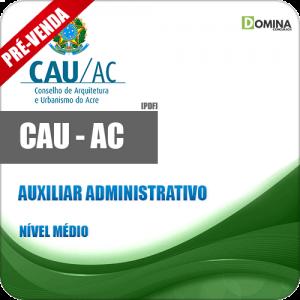 apostila cau ac auxiliar administrativo 2018 2019