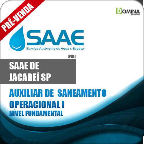 Apostila SAAE Jacareí SP 2019 Auxiliar Saneamento Operacional I
