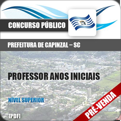 Apostila Pref Capinzal SC 2019 Professor de Anos Iniciais