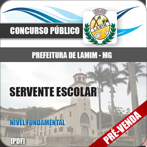 Apostila Pref Lamim MG 2019 Servente Escolar
