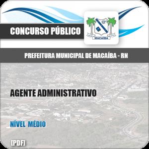 Apostila Pref Macaíba RN 2019 Agente Administrativo