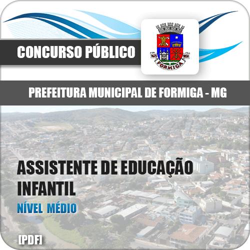 Apostila Pref Formiga MG 2019 Assistente de Educação Infantil