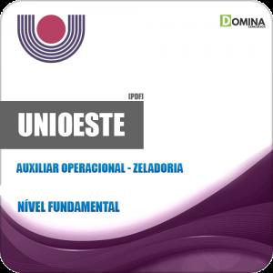 Apostila UNIOESTE PR 2019 Auxiliar Operacional Zeladoria
