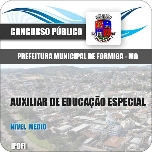 Apostila Pref Formiga MG 2019 Auxiliar de Educação Especial