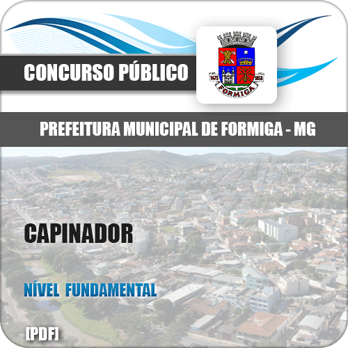 Apostila Pref Formiga MG 2019 Capinador