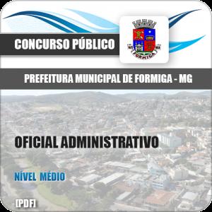 Apostila Pref Formiga MG 2019 Oficial Administrativo