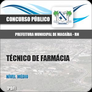 Apostila Pref Macaíba RN 2019 Técnico de Farmácia