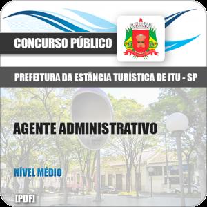 Apostila Prefeitura Itu SP 2019 Agente Administrativo
