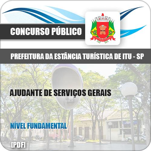 Apostila Prefeitura Itu SP 2019 Ajudante de Serviços Gerais