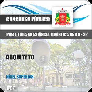 Apostila Concurso Prefeitura de Itu SP 2019 Arquiteto