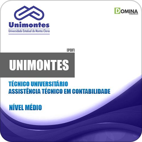 Apostila UNIMONTES 2019 Técnico Contabilidade