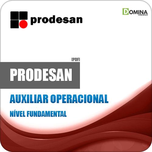 Apostila Concurso Prodesan 2019 Auxiliar Operacional