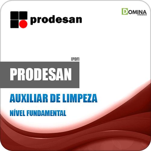 Apostila Concurso Prodesan 2019 Auxiliar de Limpeza