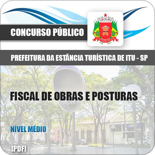 Apostila Prefeitura Itu SP 2019 Fiscal de Obras e Posturas