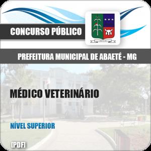 Apostila Prefeitura de Abaeté MG 2019 Médico Veterinário