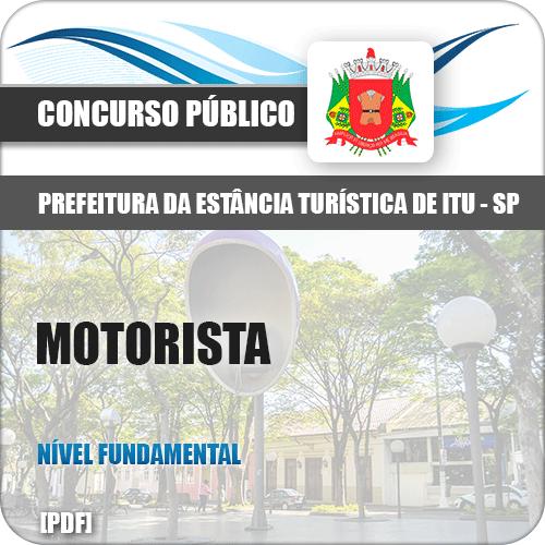 Apostila Concurso Prefeitura Itu SP 2019 Motorista
