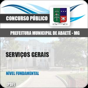 Apostila Concurso Pref Abaeté MG 2019 Serviços Gerais