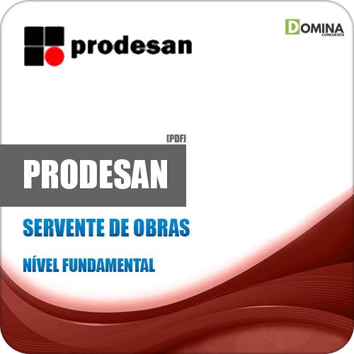 Apostila Concurso Prodesan 2019 Servente de Obras