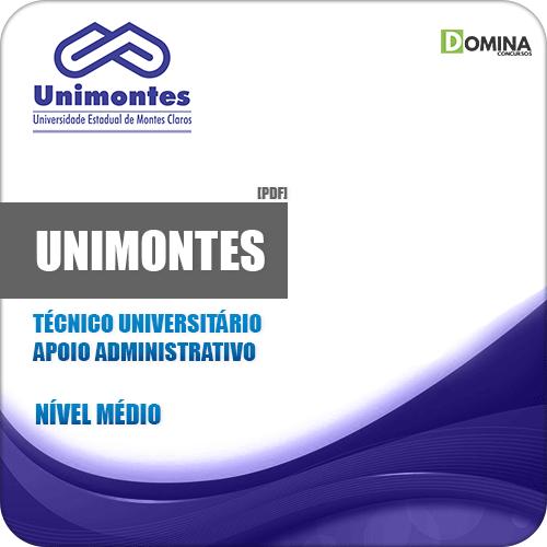 Apostila UNIMONTES 2019 Técnico Apoio Administrativo