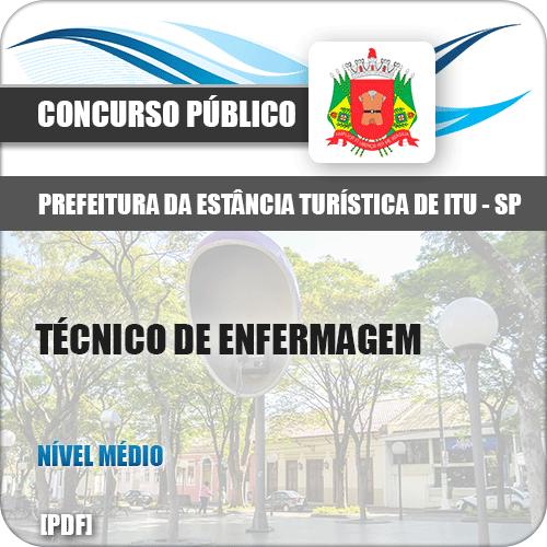 Apostila Prefeitura Itu SP 2019 Técnico de Enfermagem
